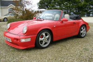 1990 PORSCHE 911 CARRERA 2 CABRIO RED