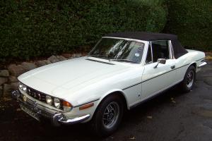 1973 TRIUMPH STAG WHITE V8 AUTO LAST 2 OWNERS 27years 1st CLASS CONDITION  Photo