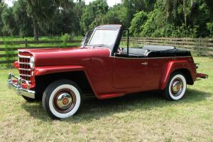 1950  Willys Overland Jeepster Concourse Restoration NO RESERVE