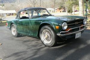 TR6, 1973, BRG, Convertible, Body-Off Restoration, Low Mileage Photo