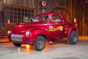 1941 Willys Gasser Coupe Drag Race Car, Hot Rod, Other