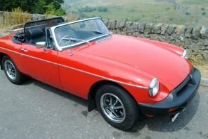 1976 MGB Roadster Flamenco Red, 1950cc