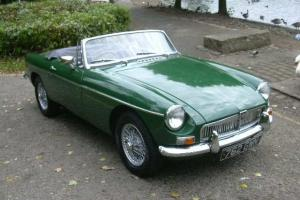 MGB Roadster, 1963, Pull Handle, Wire Wheels, Chrome Bumpers, Tax Exempt, BRG  Photo