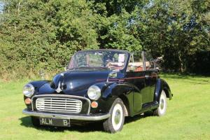 Morris Minor Factory Convertible, Tourer, July MOT tax exempt - lovely condition