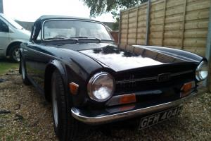1970 TRIUMPH TR6 BLUE with multi point injection