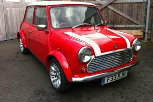 1989 AUSTIN MINI RED HOT RED ADDITION WITH SPORTS PACK,TAX