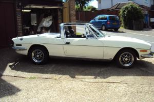 1975 TRIUMPH STAG AUTO WHITE  Photo