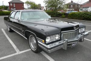 CADILLAC FLEETWOOD BROUGHAM (Sixty Special) Jet Black Ivory Interior