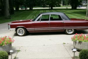 1968 Imperial, LeBaron. Burgundy with black leather interior and top. Loaded!