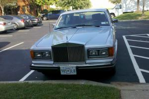 1982 Rolls-Royce Silver Spur.  Silver with Dark Blue Interior Photo