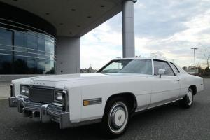 1977 CADILLAC ELDORADO COUPE WHITE ON WHITE ONLY 61K MILES STUNNING RARE FIND