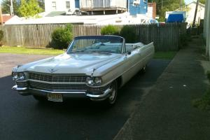 Elegant 1964 Cadillac deVille  convertible - the last of the fins...