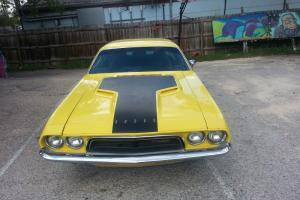 Yellow 1972 Dodge Challenger.  318 numbers matching.