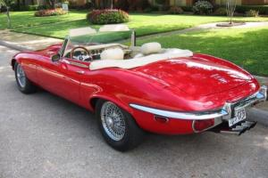"1973 JAGUAR XKE V12 CONVERTIBLE  ""ONE OF A KIND"" RARE Photo"