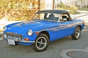 1979 MGB convertible, 2 owners, rust-free California car, genuine 56k miles!!