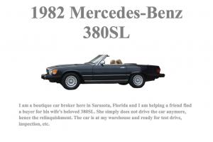 1982 Mercedes-Benz 380SL ~ Nice Daily Driver
