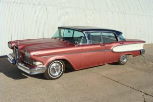 1958 EDSEL CORSAIR 4DRHT. RUST FREE OKLAHOMA CAR. A/C RUNS