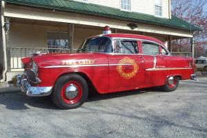 1955 Chevy Bel-Air Fire Chief's Car Photo