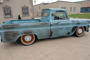 1966 GMC C10 Short bed Hot rod SWB Fleetside Air ride Automatic Bagged Patina