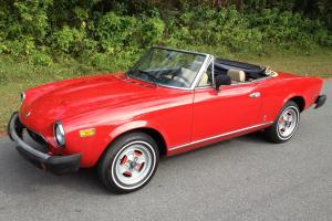 1981 FIAT SPIDER 124 CONVERTIBLE FUEL INJECTION 2000 CC RED BEAUTY IN FLORIDA !