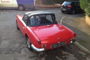 1970 TRIUMPH SPITFIRE RED tax exempt rare with overdrive TAX and MOT Photo