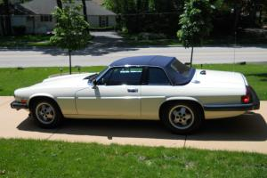 Jaguar XJS Cabrolet, White with Blue Interior with Hard and Soft Top