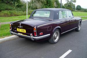 ROLLS ROYCE SILVER SHADOW ,LONG WHEEL BASE SMALL REAR WINDOW,RED