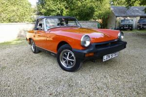 Fully Restored 1981 MG MIDGET 1500 ORANGE - 58k from new  Photo