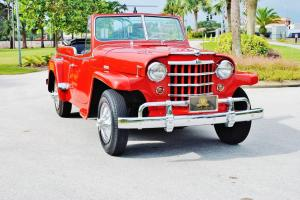 Fully restored mint 1950 Willys Jeepster Convertible must be seen drivin sweet.