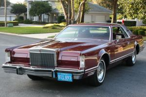 RARE LUXURY GROUP RED / ROSE MOONROOF -1977 Lincoln Mark V Coupe -72K ORIG MI