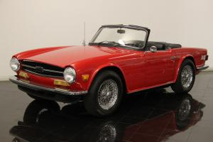 1973 Triumph TR6 Roadster 2.5L 6 Cyl 4 Speed Overdrive Power Windows CD Photo
