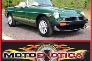 1978 MG MGB - BRITISH RACING GREEN! - BEAUTIFUL IVORY INTERIOR - AMAZING DRIVER! Photo