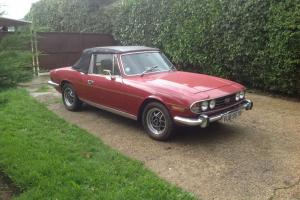 1977 TRIUMPH STAG AUTO RED CONVERTIBLE
