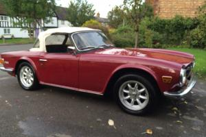 1971 Triumph TR6 2.5 injection. 150BHP Beautiful condition Full MOT much history