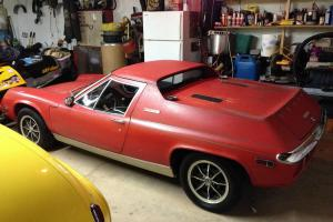 1974 Lotus Europa Twin cam Special 5spd carnival red Original paint 22,993 mile