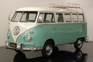 1964 Volkswagen Type 2 Deluxe 13 window Micro Bus Restored Mint Green