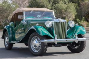 1953 MG TD - Near Concours Restoration ,Brooklands Green, Almond Green Interior Photo