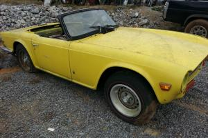 1974 TRIUMPH TR6 NEEDS RESTORED MOTOR AND TRANS INCLUDED Photo