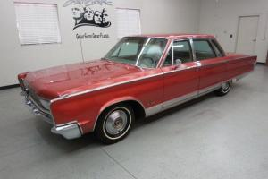 """1966 CHRYSLER """"NEW YORKER"""" 4 DR. SEDAN IN """"BEAUTIFUL"""" CORAL  440 V-8, """"COLD"""" A/C"""