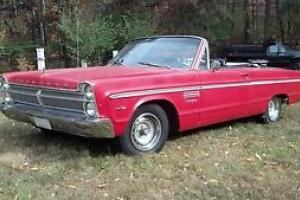 Beautiful Red 1965 Plymouth Fury Sport Convertible 383 Commando 4 speed