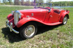 MG T Series TD 1952, original 1250 cc engine