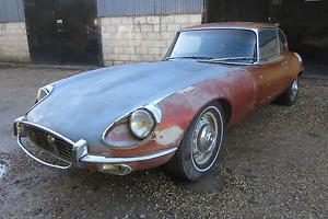 Etype Jaguar 1971 V12 Manual Coupe LHD Restoration Project Dry State Car.