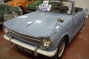 STUNNING 69 TRIUMPH HERALD 13/60 CONVERTIBLE WEDGEWOOD BLUE  Photo