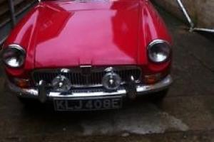 MGB GT RED Chrome bumpers TAX EXEMPT