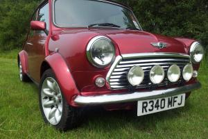 rover mini mpi 1998 cream leather, brand new engine and gearbox.