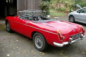1970 MGB Roadster convertible, chrome bumpers  Photo
