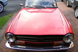 CLASSIC CAR TRIUMPH TR6 1970 150BHP IN RED IN EXCELLENT CONDITION