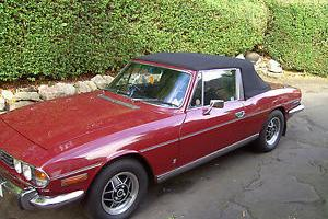 TRIUMPH STAG V8 AUTO CARMINE RED WITH BLACK INTERIOR FIRST CLASS CONDITION  Photo