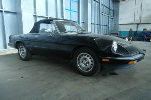 1985 ALFA ROMEO SPIDER GRADUATE CALIFORNIA CAR BLACK ON BLACK