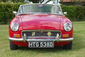 MGB Roadster 1966 Tartan Red Chrome Wires  Photo